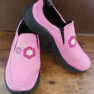 L.L. Bean Pink Suede Slip On Shoes